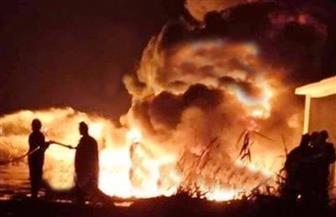 كردون أمنى حول موقع حريق إيتاى البارود.. و«الحماية المدنية» تواصل عملية التبريد