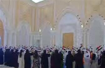مراسم استقبال رسمية للرئيس عبد الفتاح السيسي في قصر الوطن بأبوظبي