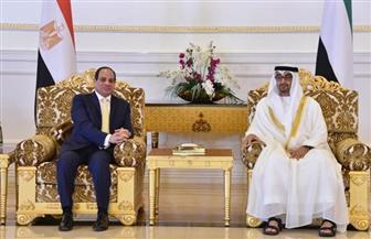 الرئيس السيسي والشيخ محمد بن زايد يشهدان توقيع عدة اتفاقيات تعاون