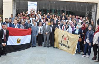 نرمين وائل رئيسا لاتحاد طلاب جامعة حلوان وعلي السيد نائبا لها | صور