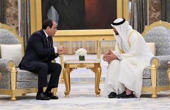 الرئيس السيسي يشكر أبناء زايد علي حفاوة استقباله في الإمارات | صور