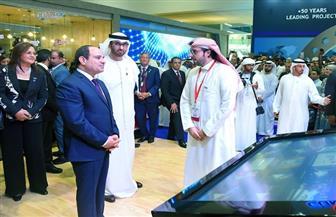 الرئيس السيسي يقوم بجولة في معرض أبو ظبي الدولي للبترول | صور