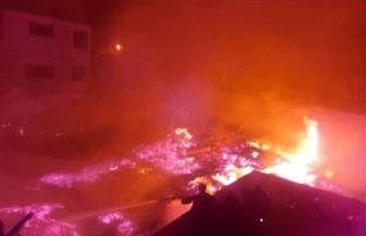 حريق بأحد مخازن معهد أزهرى بمدينة أرمنت | صور