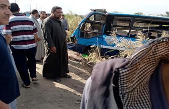 """مصرع شخصين وإصابة 16 آخرين فى انقلاب أتوبيس على طريق """" المحلة – طنطا"""""""