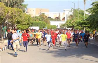 انطلاق ماراثون الجري لشباب الجامعات الإفريقية في جامعة الأزهر| صور