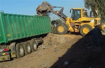 رفع وتوريد 595 طن قمامة بنطاق حي شرق المنصورة