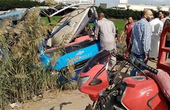 طوارئ جامعة طنطا: متوفيان اثنان و17 مصابا حصيلة انقلاب أتوبيس النقل الجماعي| صور