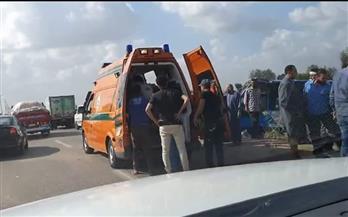 مصرع 7 أشخاص وإصابة 11 آخرين فى حادث على الطريق الصحراوي الشرقي بسوهاج