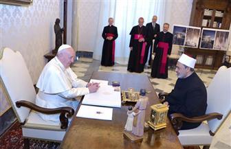 شيخ الأزهر وبابا الفاتيكان: ماضون قدما لتعزيز التعاون وتحقيق الإخاء الإنساني | صور