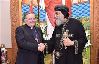 البابا تواضروس يستقبل كاردينال جزيرة صقلية وعمدة مدينة أجريجنتو والوفد المرافق لهما |صور