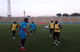 منتخب غانا يخوض مرانه على ملعب نادي السكة الحديد | صور