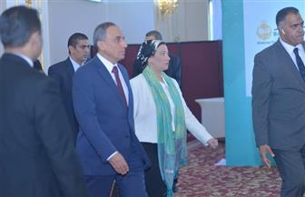 وزيرة البيئة تصل مقر انعقاد مؤتمر الأهرام الأول لصناعة الدواء