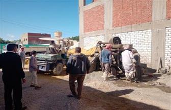 ضبط 7 مخالفات ومعدات وأدوات بناء خلال حملة إزالة بعلم الروم والقصر بمطروح