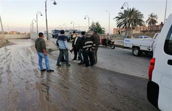 نائب محافظ شمال سيناء يتفقد تصريف المياه بالعريش | صور