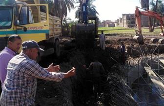 البدء في أعمال توصيل الكابلات الخاصة بمحطات الرفع بقرية الصعايدة في الأقصر | صور