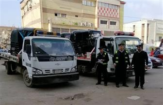 حملة على مركبات التوك توك والدراجات المخالفة بمدينة طنطا | صور