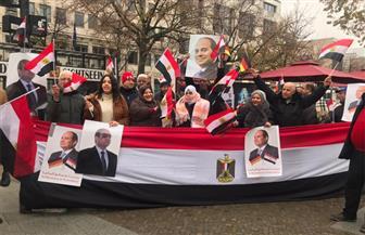 الجالية المصرية في ألمانيا تنظم وقفة تأييد وترحيب بالرئيس السيسي | فيديو وصور