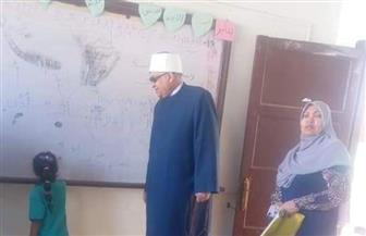 رئيس المنطقة الأزهرية يتفقد معهد الغردقة الابتدائي المرشح لضمان الجودة |صور
