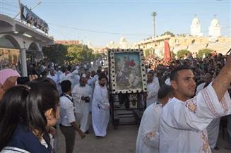 ختام احتفالات الأقباط بمولد الشهيد مارجرجس بمنطقة جبل الرزيقات في الأقصر | صور
