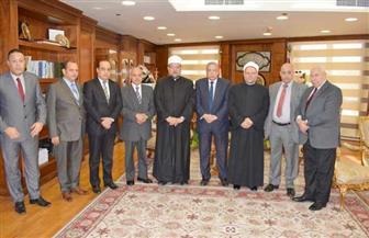 رئيس النيابة الإدارية يستقبل وزير الأوقاف ومفتي الجمهورية   صور