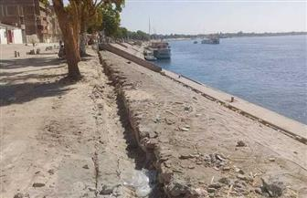 تطوير كورنيش النيل بمحيط معبد كوم أمبو بأسوان   صور