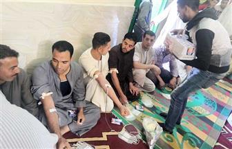 قرية نوارة بالفيوم تتبرع بـ750 كيس دم لمريض خلال ساعتين