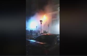 حريق هائل بمحل حلويات شهير بأكتوبر
