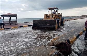 رئيسة مدينة سفاجا تتفقد أماكن سقوط الأمطار وتكلف برفع  تراكمات المياه | صور