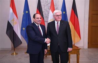 تفاصيل لقاء الرئيس السيسي بنظيره الألماني| صور وفيديو