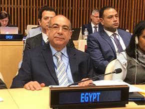 مندوب مصر الدائم لدى الأمم المتحدة: السلم والأمن الدوليان لا يمكن أن يتحققا عبر سياسات الردع وسباقات التسلح