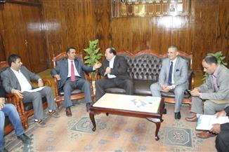 رئيس جامعة طنطا يستقبل الملحق الثقافي الليبي بالقاهرة | صور