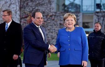 الرئيس السيسي يصل إلى مقر المستشارية الألمانية ببرلين