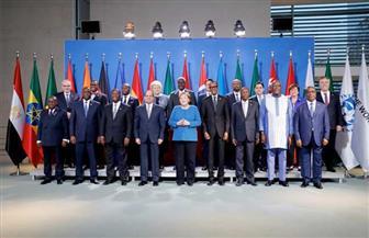 الرئيس السيسي يلتقط صورة تذكارية مع ميركل وقادة قمة مجموعة العشرين وإفريقيا| فيديو