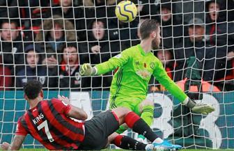 مانشستر يونايتد يعود لنتائجه المخيبة بالسقوط أمام بورنموث بالدورى الإنجليزى