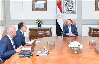 تفاصيل اجتماع الرئيس السيسي مع رئيس الوزراء ووزيري النقل والتخطيط|فيديو
