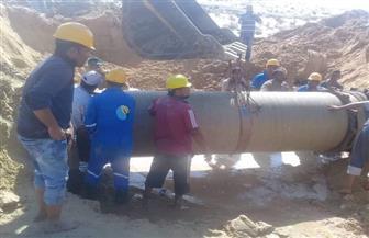 الانتهاء من إصلاح خط المياه المغذي لمدينة العريش بشمال سيناء | صور