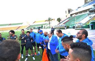 المشرف على الكرة بالمقاولون يحفز اللاعبين قبل لقاء أسوان