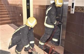الحماية المدنية تنقذ 4 مواطنين داخل مصعد كهربائي بمساكن الأوقاف في المحلة