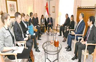 الرئيس السيسي يستقبل وزير الاقتصاد والطاقة الألمانى بمقر إقامته في برلين