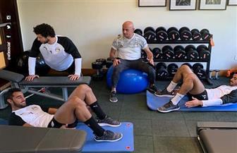 تدريبات استشفائية للاعبي المنتخب الأوليمبي استعدادا لنهائي كأس الأمم | صور