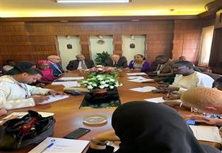 وفد الصحفيين الأفارقة يزورون اتحادهم بالقاهرة