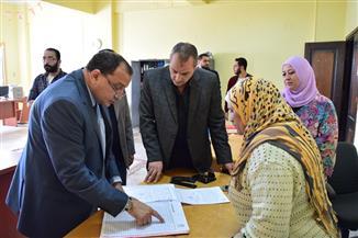 جولات تفقدية مفاجئة لرئيس جامعة بني سويف للكليات وإحالة المقصرين للتحقيق| صور