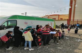 الكشف الطبي على 2100 في قرية أبو سعادة الكبرى بدمياط.. مجانا |  صور