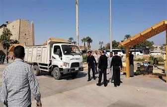 القضاء على ظاهرة الباعة الجائلين بساحة أبو الحجاج بالأقصر | صور