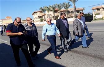 محافظ بورسعيد يتفقد أعمال رفع كفاءة الطريق الدولي الساحلي وعدد من الشوارع والميادين |صور