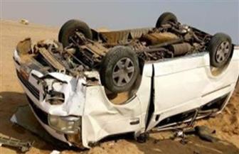 """إصابة 5 في انقلاب ميكروباص على """"الصحراوي الشرقي"""" ببني سويف"""