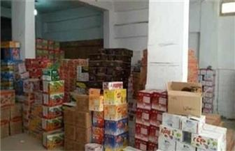 ضبط 600 كيلو بسكويت 2.2 طن جلوكوز غير صالح للاستهلاك بالقناطر الخيرية