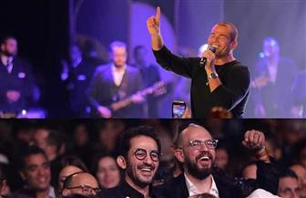 تعليق غريب من أحمد حلمي على حفل عمرو دياب | صور