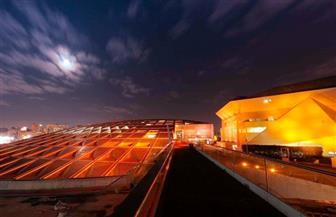 إضاءة مبنى مكتبة الإسكندرية باللون البرتقالي.. تعرف على السبب