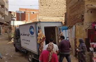 قافلة لبيع اللحوم بـ65 جنيها للكيلو في قرى مركز كفر الزيات بالغربية | صور